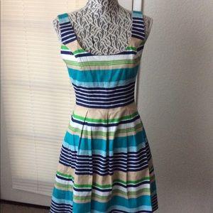 Nine West Dress Striped Cotton Sz 6